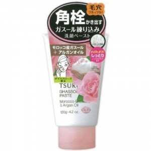 BCL FROM JAPAN TSURURI Ghassoul Paste Morocco Ghassoul & Argan Oil Rose Face Wash 120g