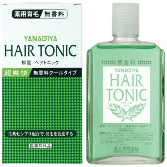 Yanagiya hair tonic fragrance free cool type - 240ml