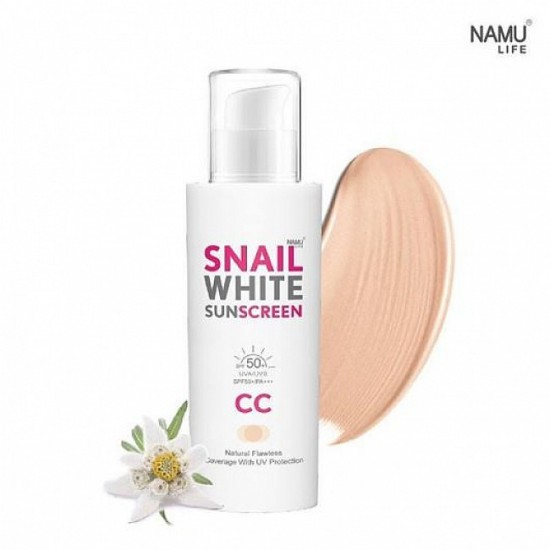 NAMULIFE SNAIL WHITE - CC cream with spf 50 uva/uvb/ pa +++ 50ml
