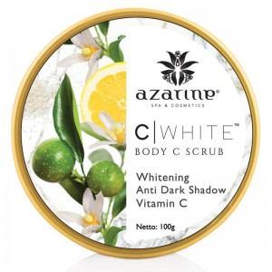 Azarine C White Body C Scrub, Whitening Anti Dark Shadow Vitamin C - 100gr
