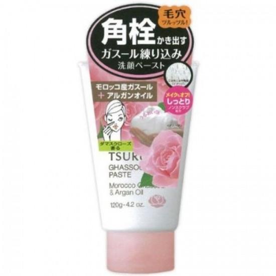 BCL FROM JAPAN TSURURI Ghassoul Paste Morocco Ghassoul & Argan Oil Rose Face Wash - 120gr