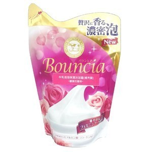 Bouncia Refill Body Soap Rose Elegant Relax by Cow - 550ml