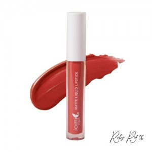 Iomi Matte Liquid Lipstick 06 Ruby Red - 3.5gr
