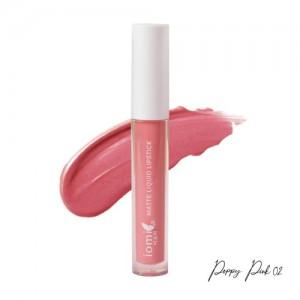 Iomi Matte Liquid Lipstick 02 Poppy Pink - 3.5gr