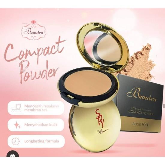 Beautra Compact Powder - Warna Light Beige - 14gr