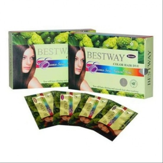 Bestway Noni Brown Colour Hair DYE Miracle - 12 x 20ml