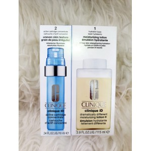 Clinique ID Dramatically Different Moisturizing Lotion - 115ml + Active Cartridge Concentrate - 10ml - BLUE - Uneven Skin Texture