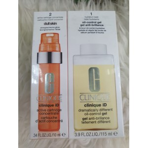 Clinique ID Dramatically Different Moisturizing Lotion - 115ml + Active Cartridge Concentrate - 10ml - ORANGE - Dull Skin