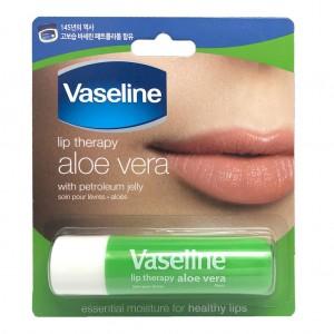 Vaseline Lip Therapy Aloe Vera - Made in Korea - 4.8gr